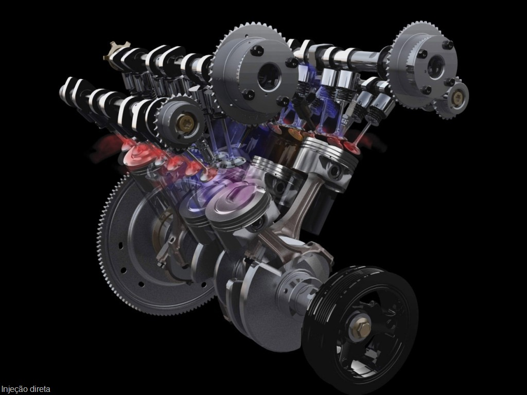 Ford's EcoBoost Engine In Action: Spent gasses are pushed through the exhaust valves, where they are routed to the turbochargers for the efficient conversion of exhaust gasses into energy to drive the turbochargers.  <br /><br />