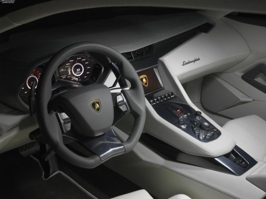 Mais imagens do Lamborghini Aventador, inclusive do interior