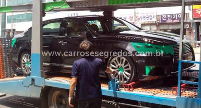 Novo Lexus LS é flagrado na Coréia do Sul