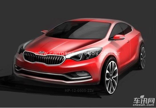 Sketchs do Kia K3 que será vendido na China