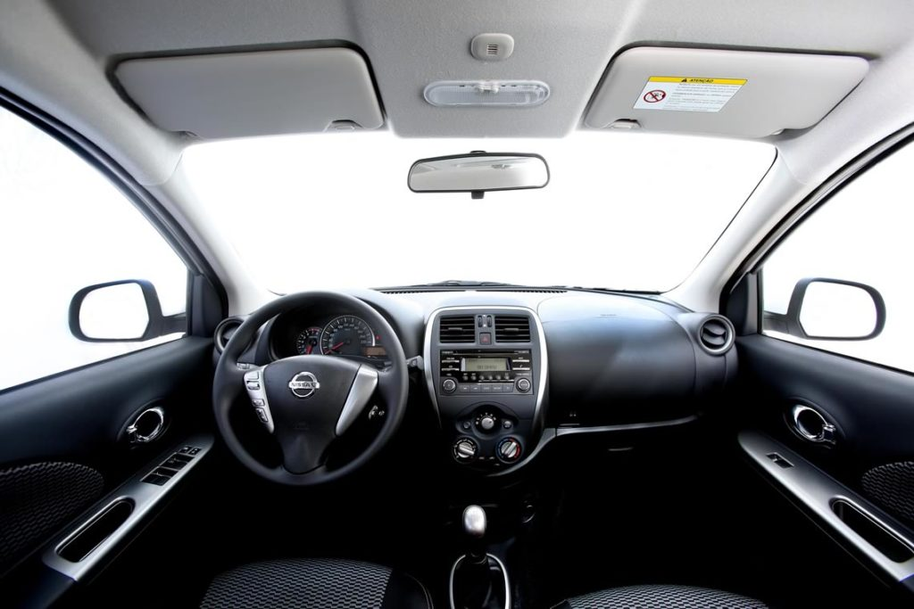 Interior do Nissan New March. Foto: Divulgação.