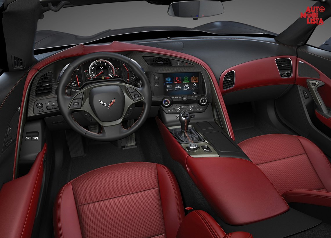 Interior do Chevrolet Corvette C7 Stingray 2014. Foto: Divulgação.