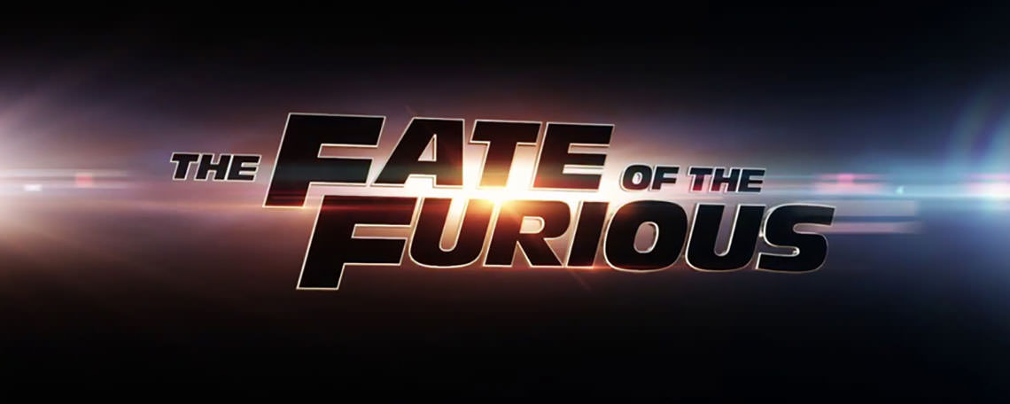 Logotipo do filme Velozes e Furiosos 8 - The Fate of The Furious. Foto: Reprodução/Filmstarts.